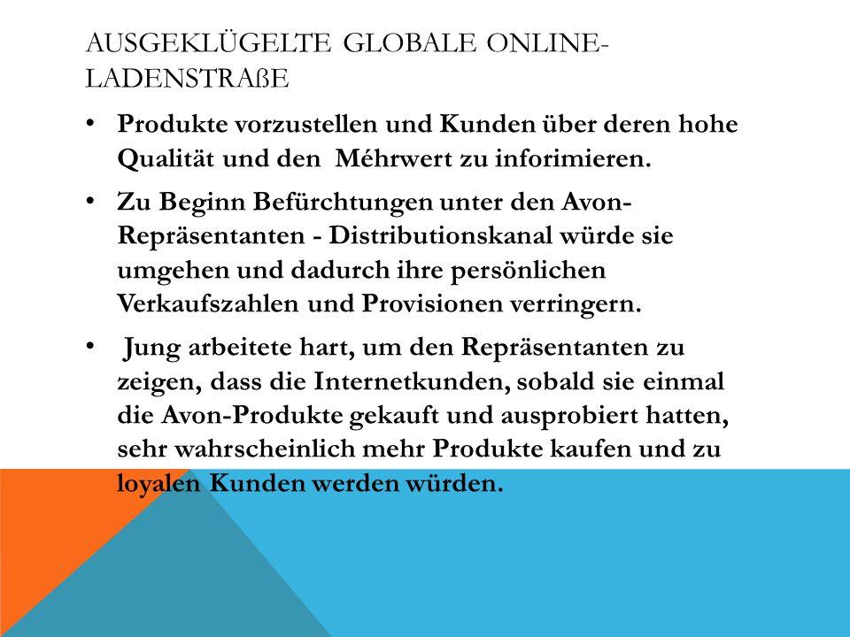 Ausgeklügelte globale Online-Ladenstraße