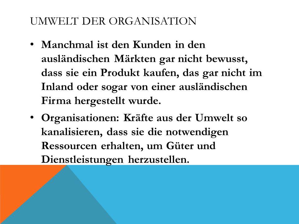 Umwelt der Organisation