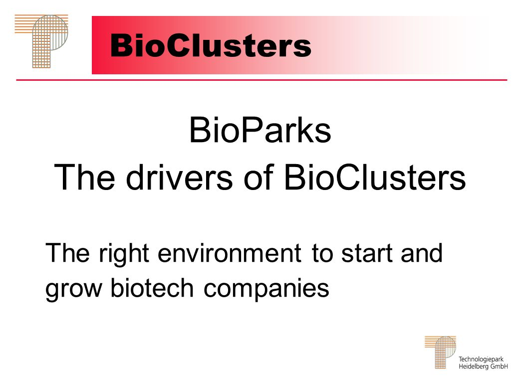 The drivers of BioClusters