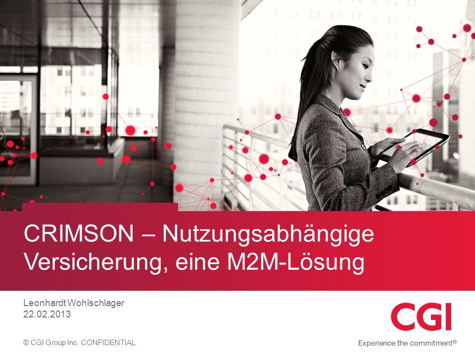 CRIMSON – Nutzungsabhängige Versicherung, eine M2M-Lösung