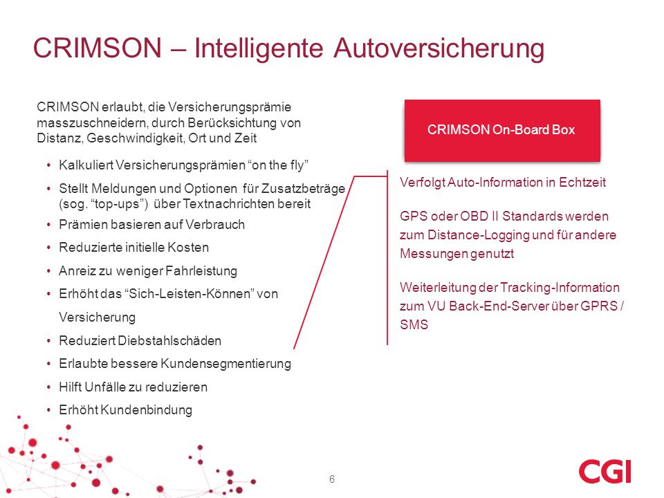 CRIMSON – Intelligente Autoversicherung