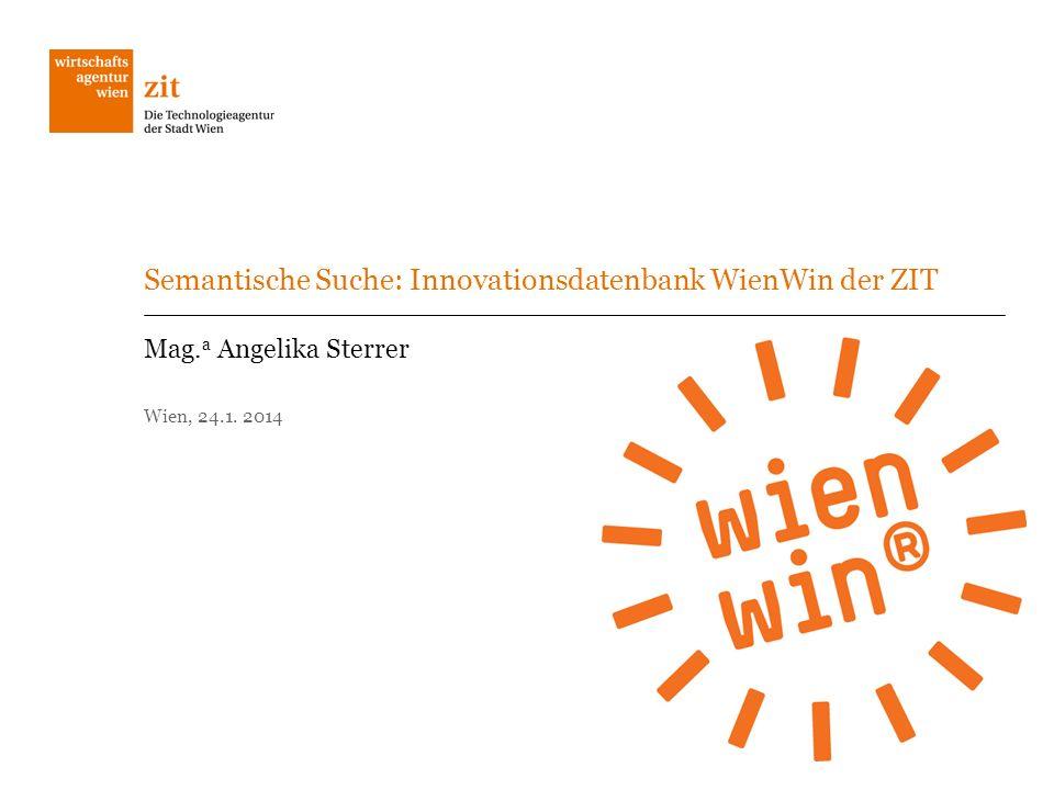 Semantische Suche: Innovationsdatenbank WienWin der ZIT
