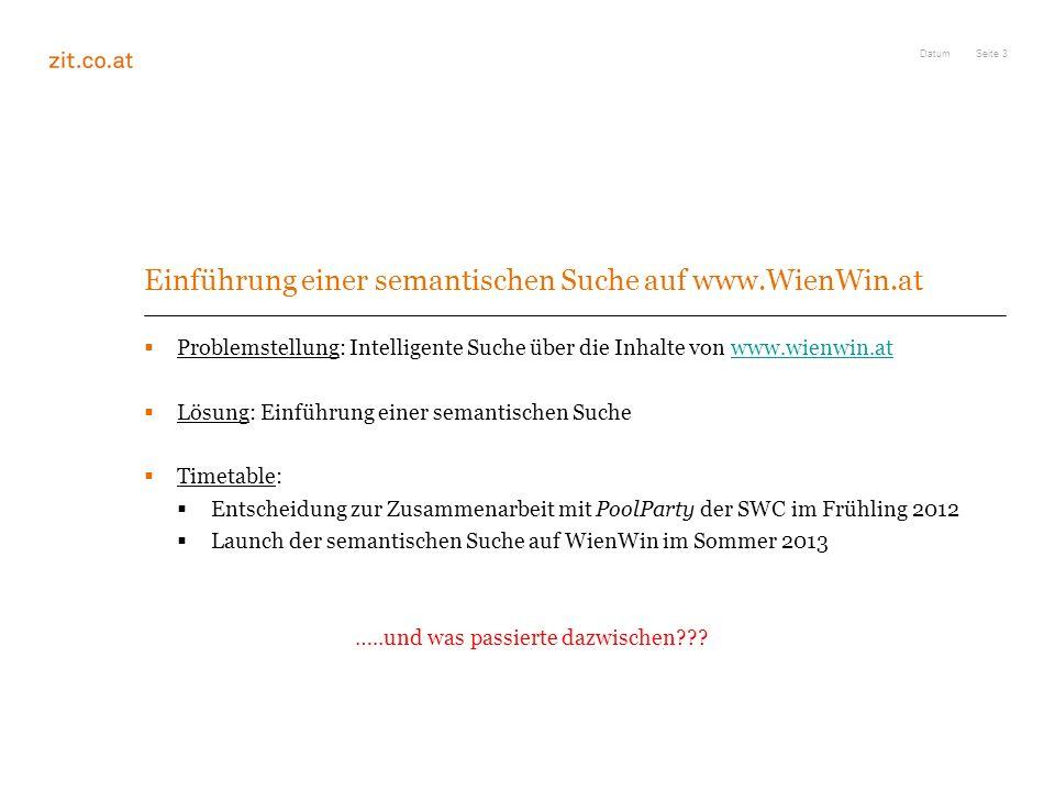 Einführung einer semantischen Suche auf www.WienWin.at