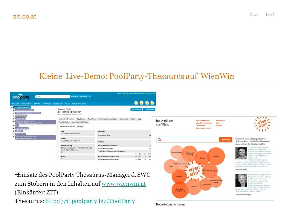 Kleine Live-Demo: PoolParty-Thesaurus auf WienWin