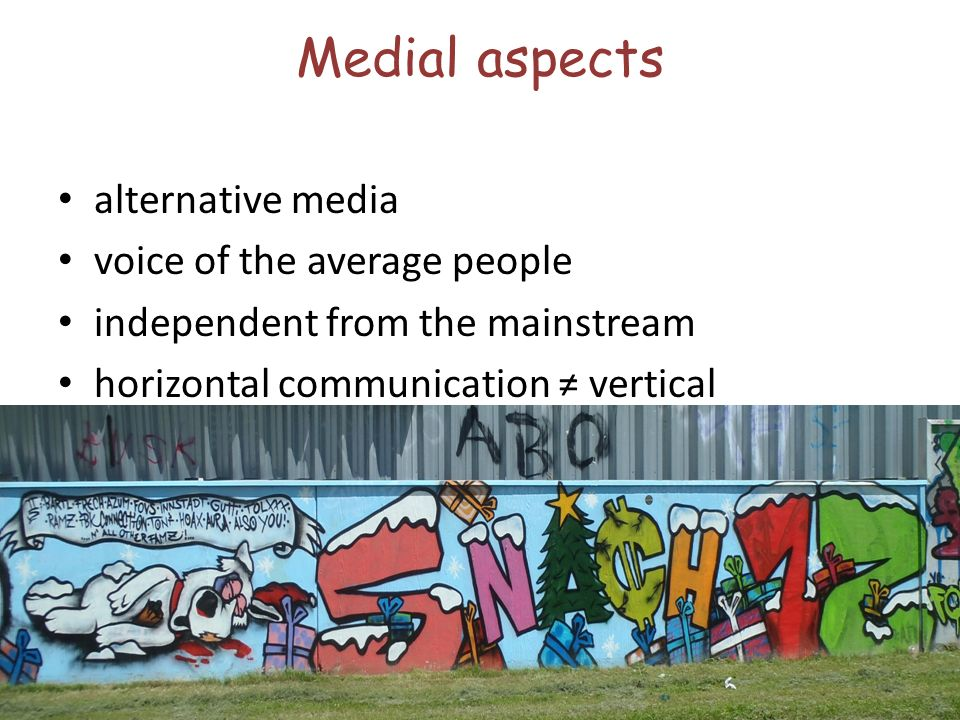 Medial aspects alternative media voice of the average people