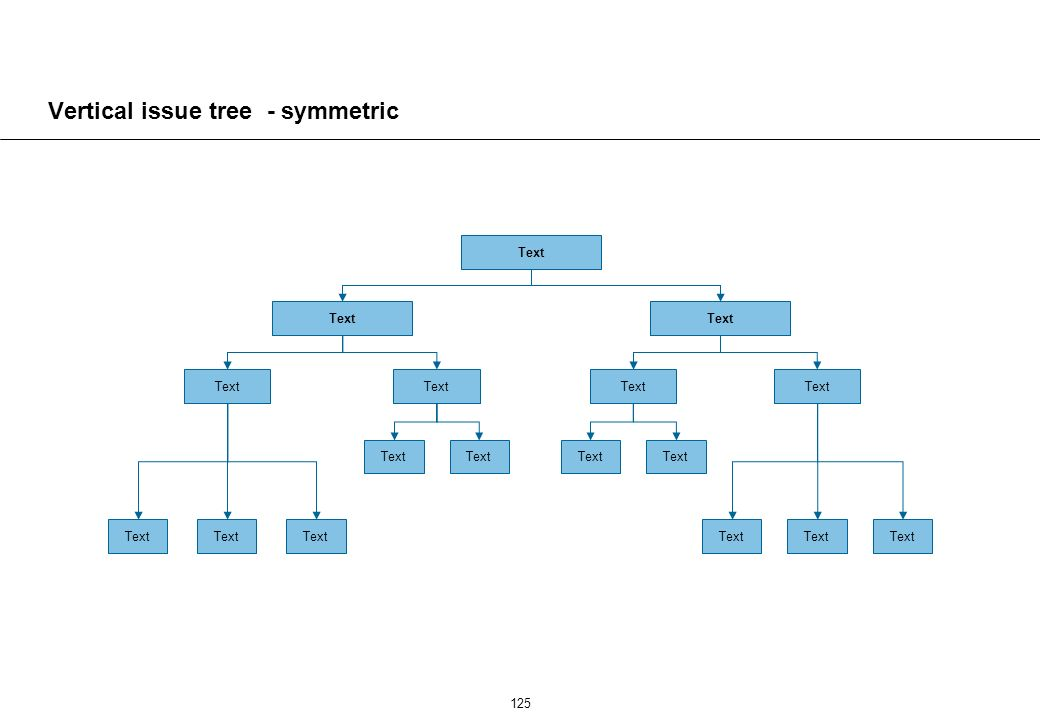 Vertical issue tree - asymmetric