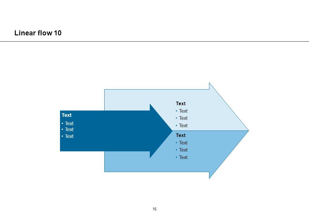 Linear flow 11 Text Text Text Text