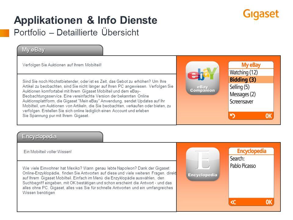 Applikationen & Info Dienste Portfolio – Detaillierte Übersicht