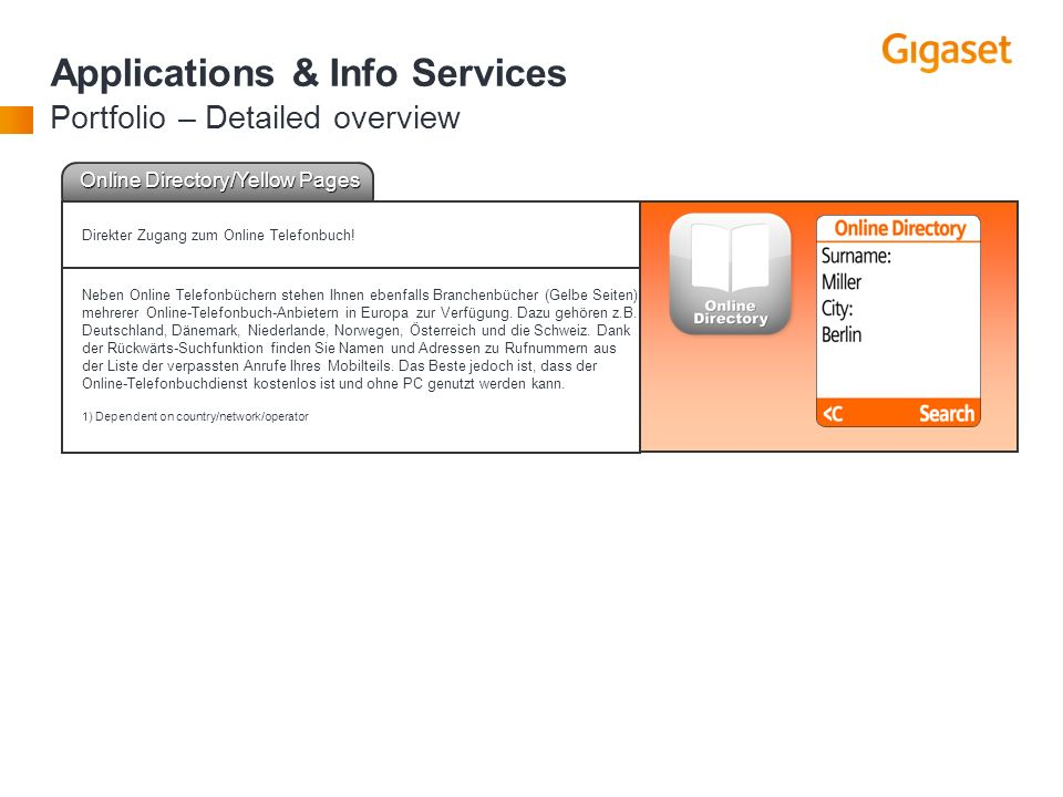 Applications & Info Services Portfolio – Detailed overview