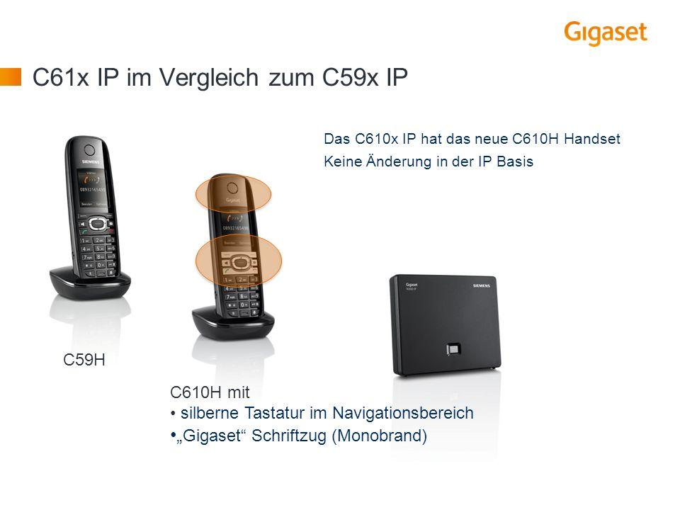 C61x IP im Vergleich zum C59x IP