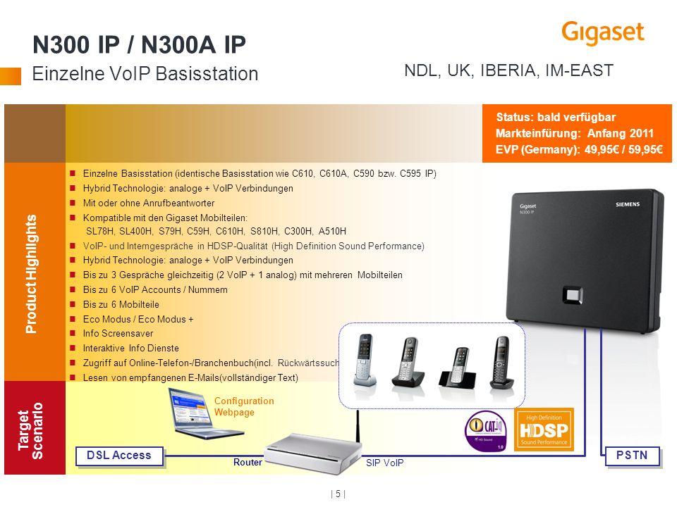 N300 IP / N300A IP Einzelne VoIP Basisstation