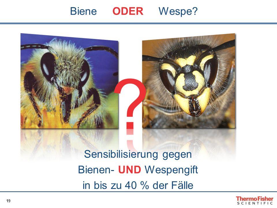 Biene ODER Wespe Sensibilisierung gegen Bienen- UND Wespengift
