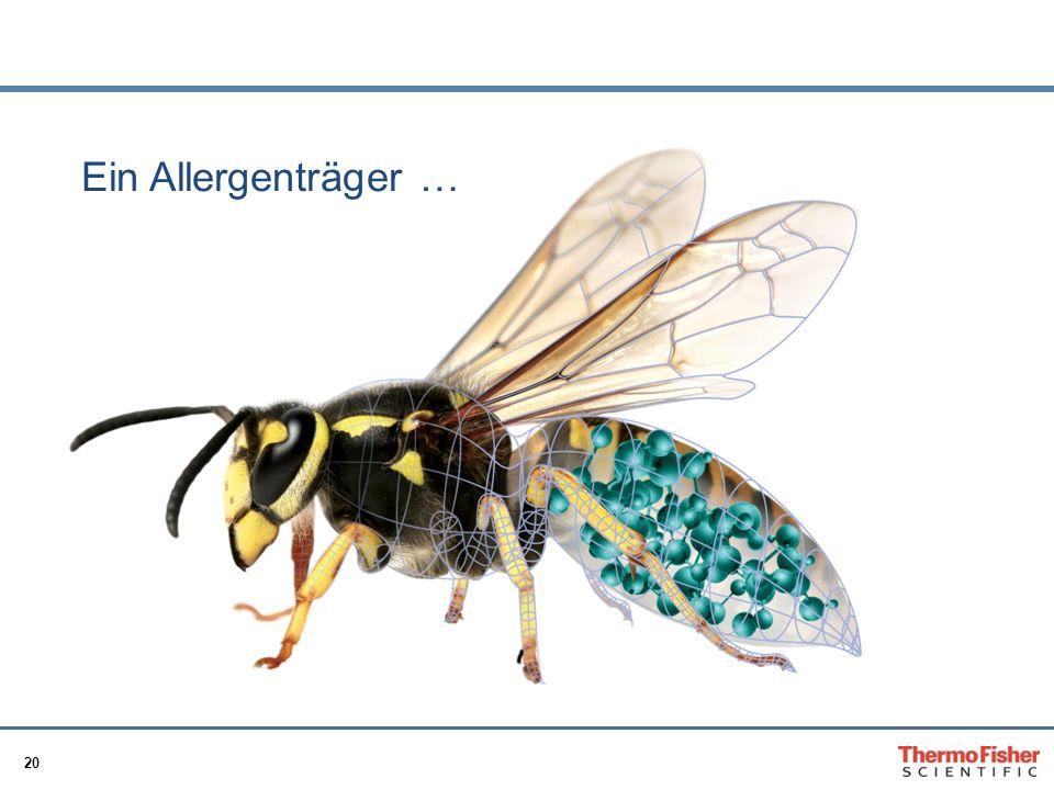 Ein Allergenträger …