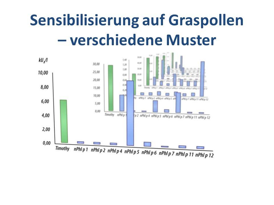 Sensibilisierung auf Graspollen – verschiedene Muster