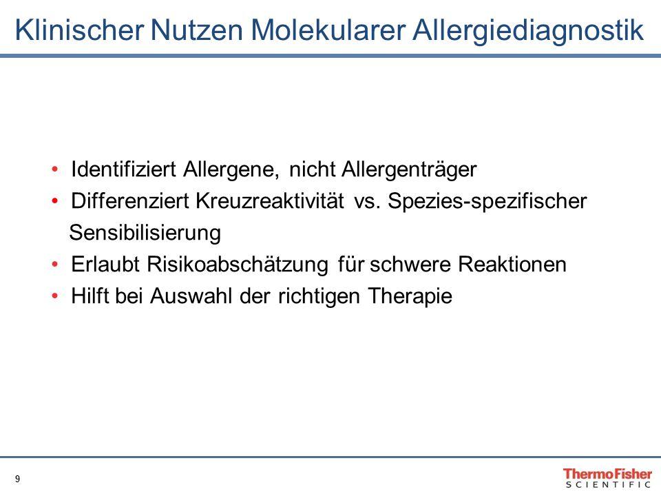 Klinischer Nutzen Molekularer Allergiediagnostik