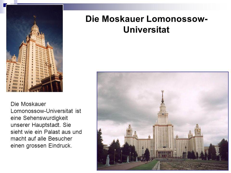 Die Moskauer Lomonossow-Universitat