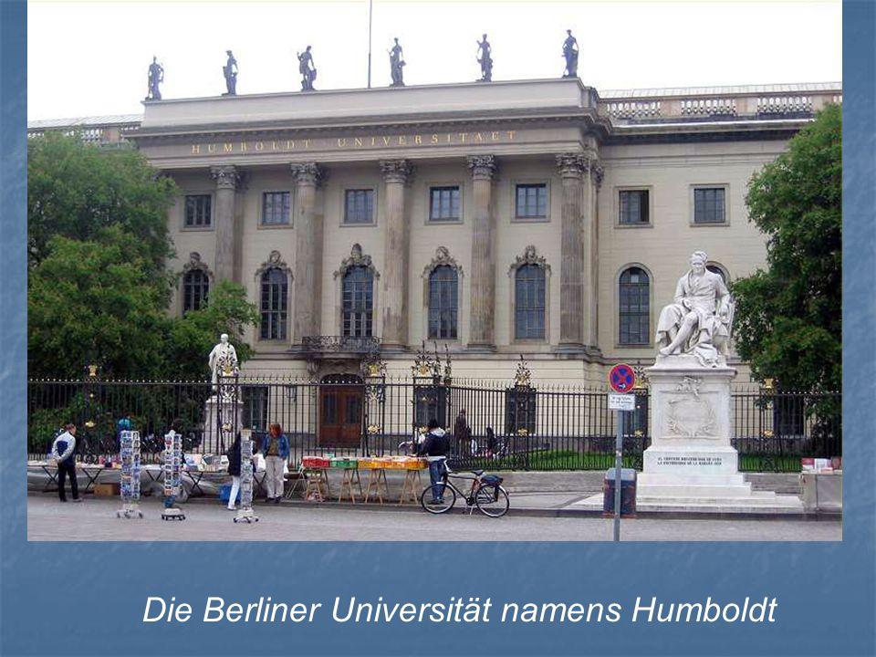 Die Berliner Universität namens Humboldt