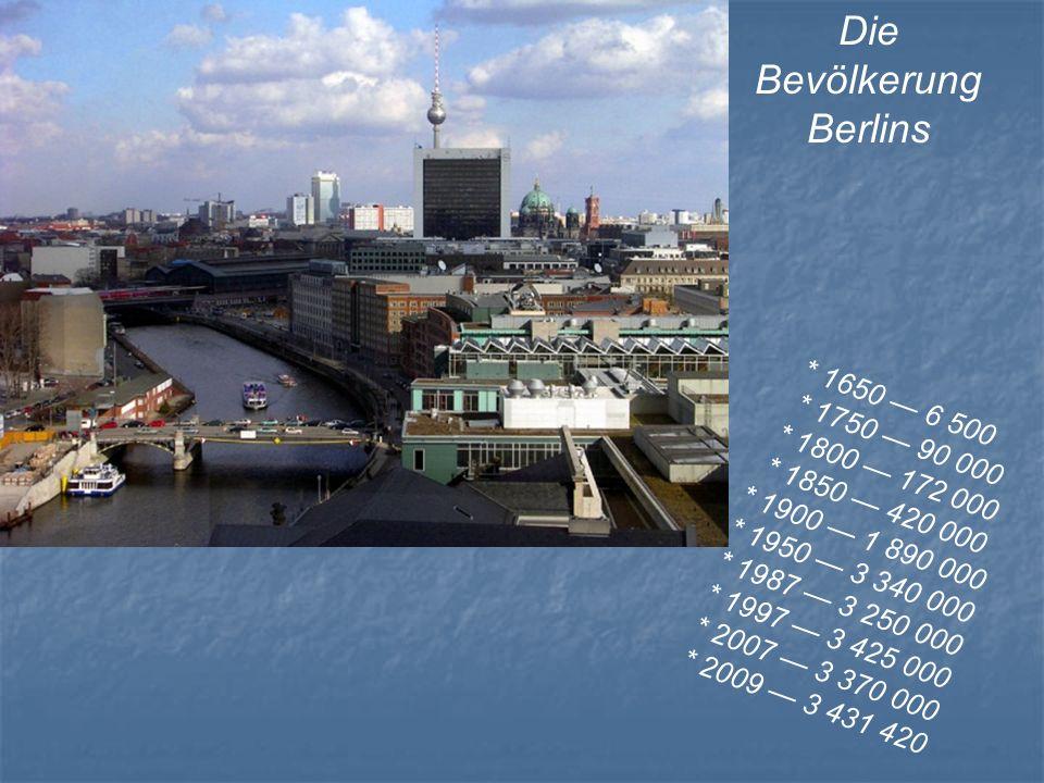 Die Bevölkerung Berlins