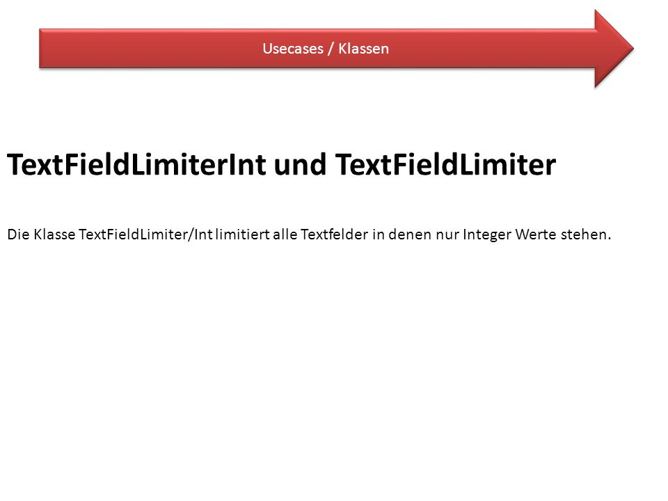 TextFieldLimiterInt und TextFieldLimiter
