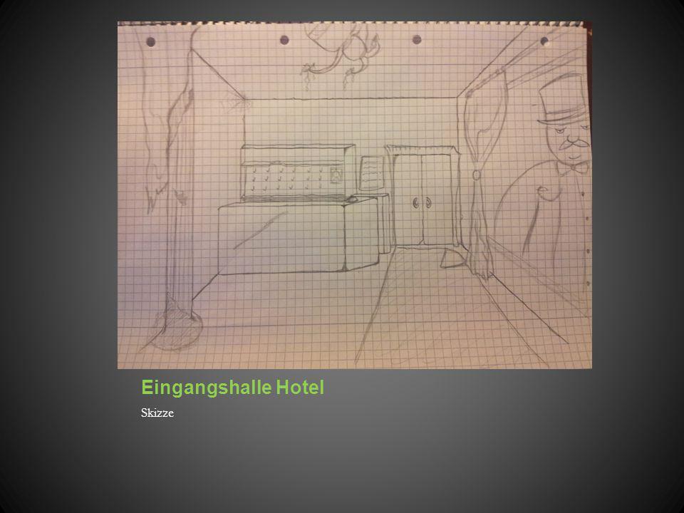 Eingangshalle Hotel Skizze
