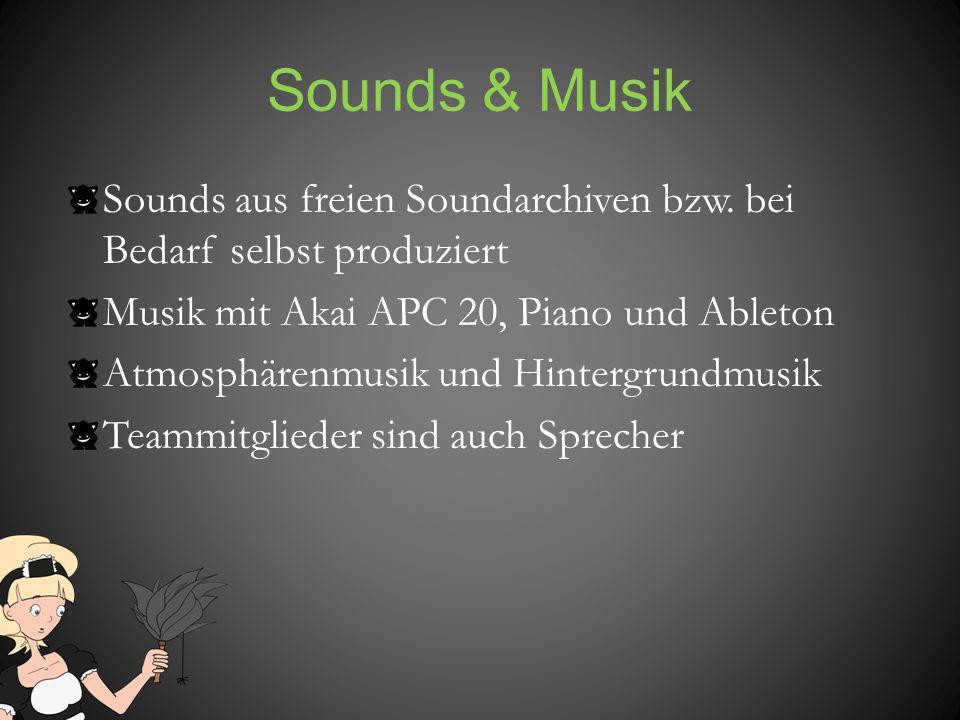 Sounds & Musik Sounds aus freien Soundarchiven bzw. bei Bedarf selbst produziert. Musik mit Akai APC 20, Piano und Ableton.