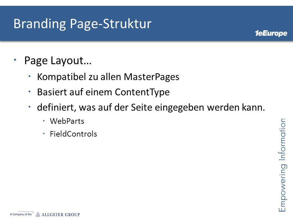 Branding Page-Struktur
