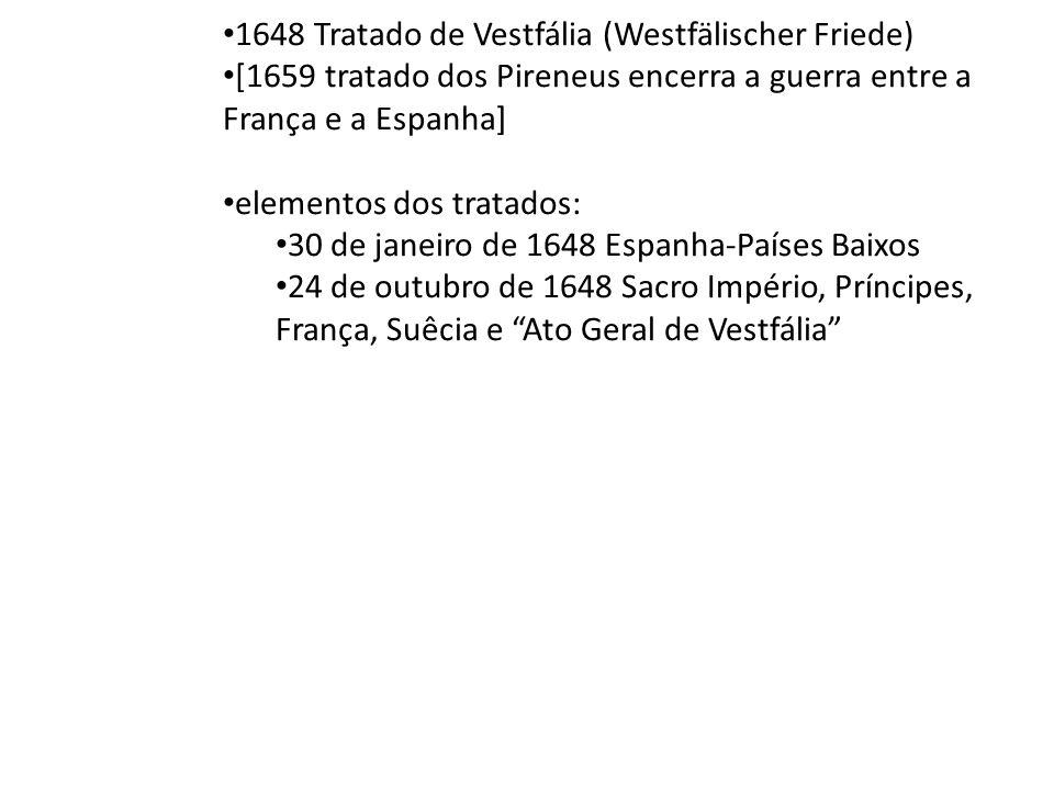 1648 Tratado de Vestfália (Westfälischer Friede)
