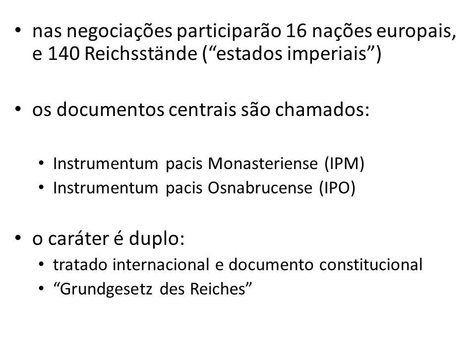 os documentos centrais são chamados:
