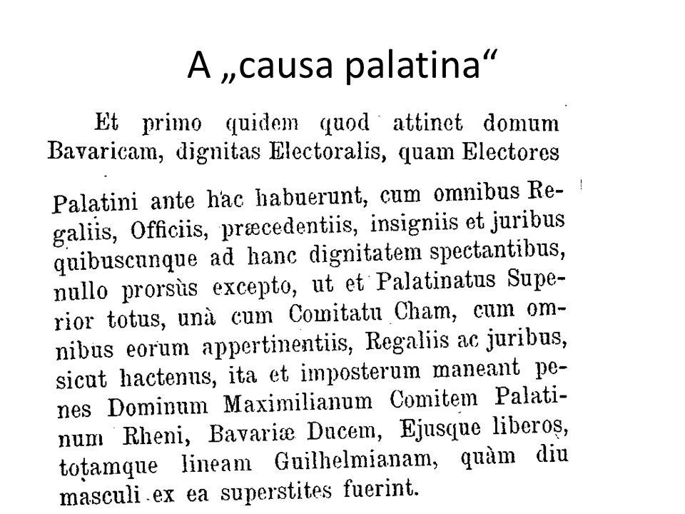 """A """"causa palatina"""
