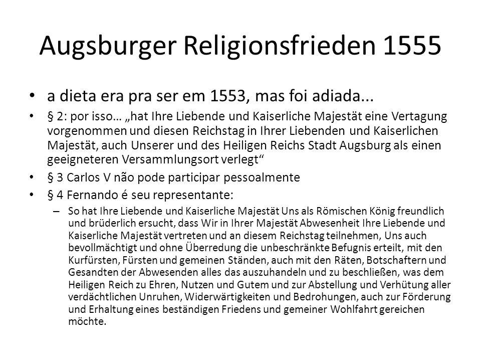 Augsburger Religionsfrieden 1555