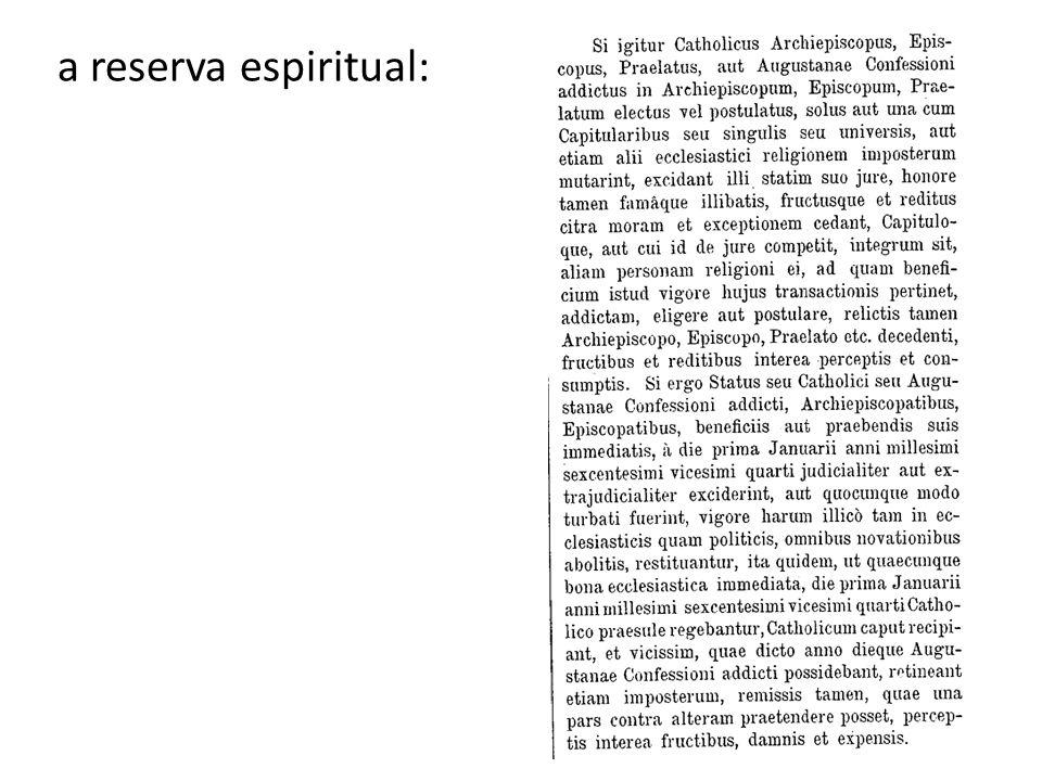 a reserva espiritual: