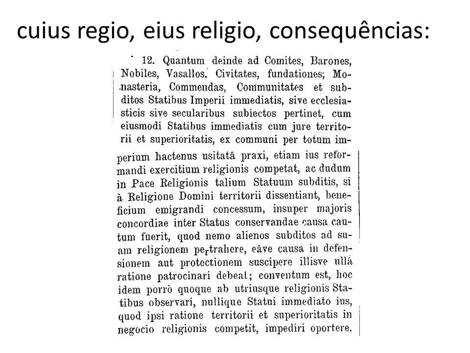 cuius regio, eius religio, consequências: