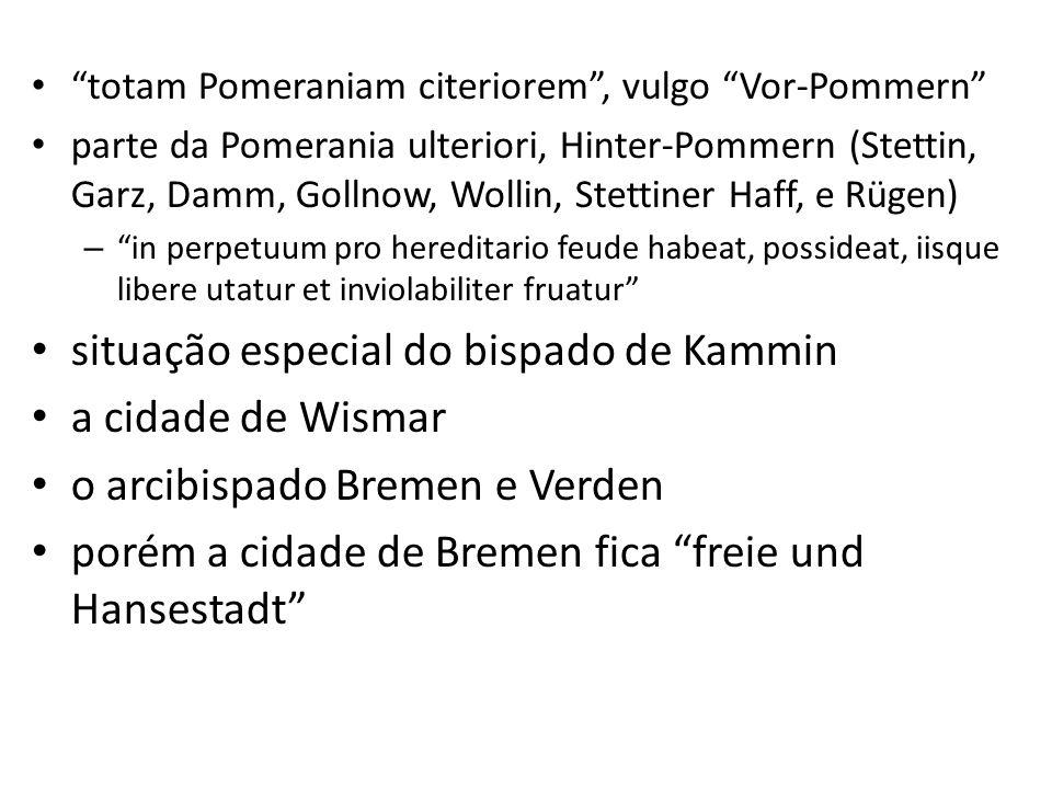 situação especial do bispado de Kammin a cidade de Wismar