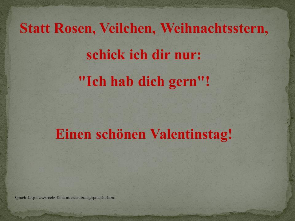 Einen schönen Valentinstag!