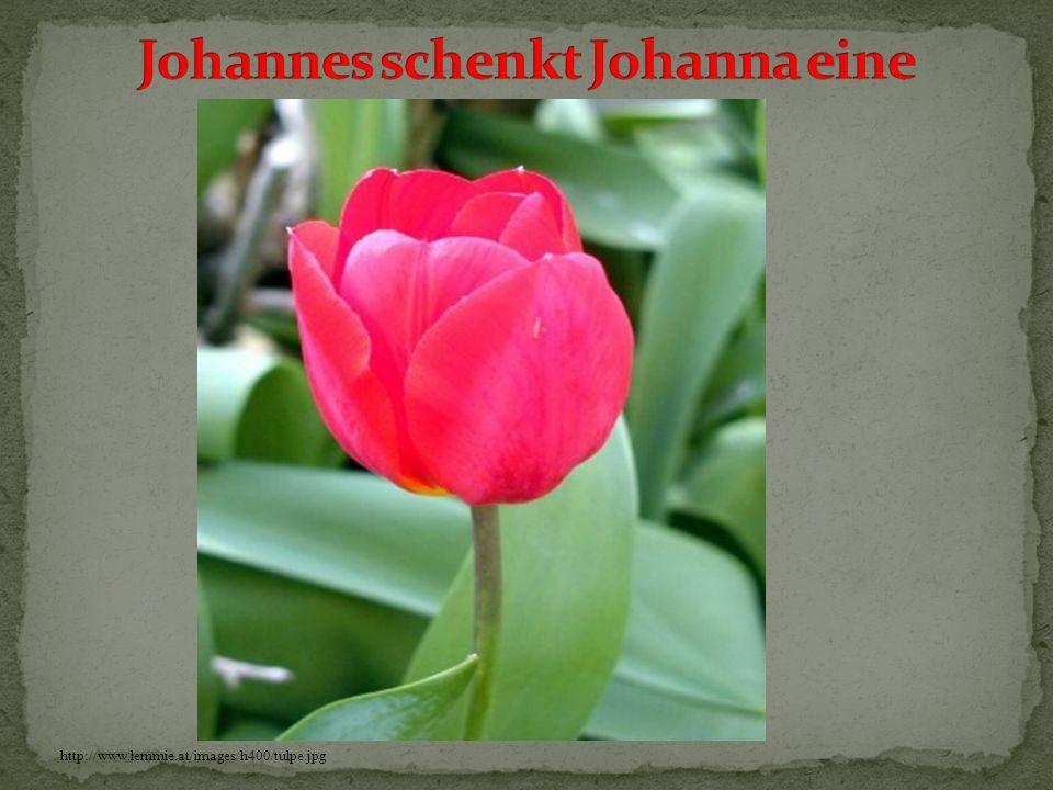 Johannes schenkt Johanna eine