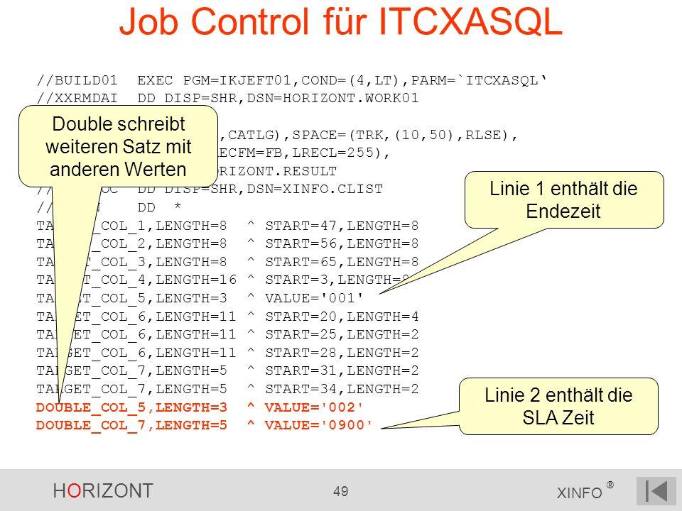 Job Control für ITCXASQL