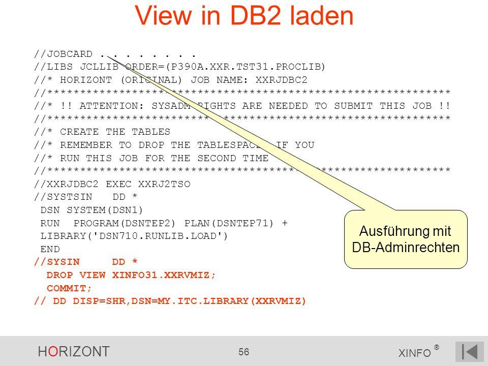 Ausführung mit DB-Adminrechten