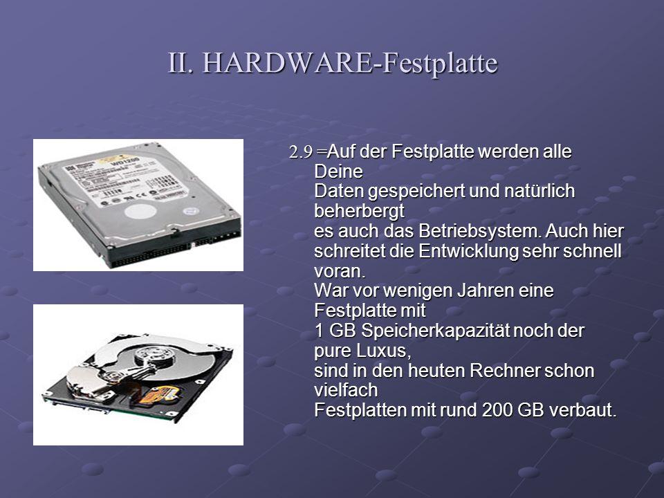 II. HARDWARE-Festplatte