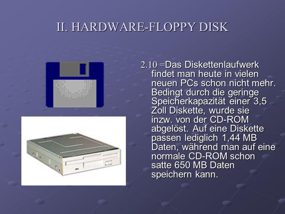 II. HARDWARE-FLOPPY DISK