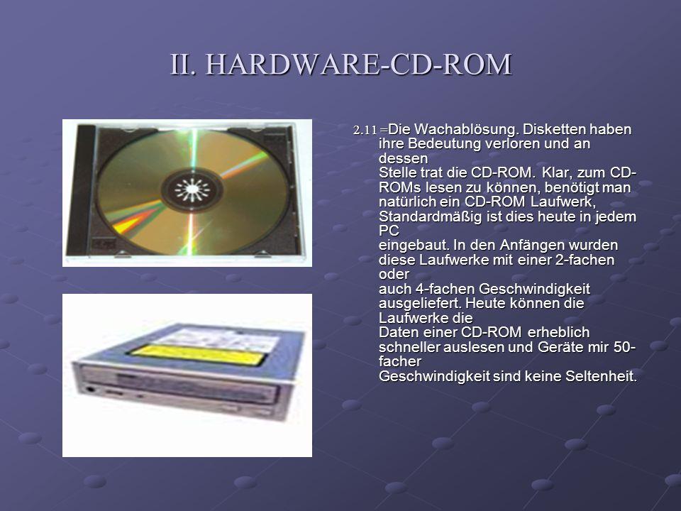 II. HARDWARE-CD-ROM