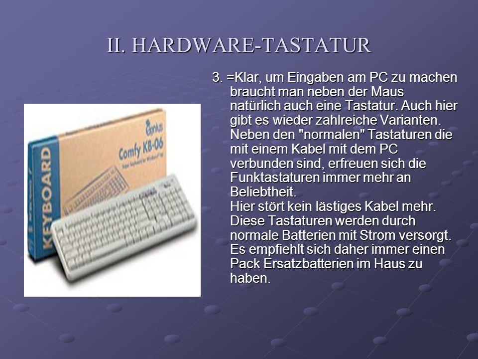 II. HARDWARE-TASTATUR