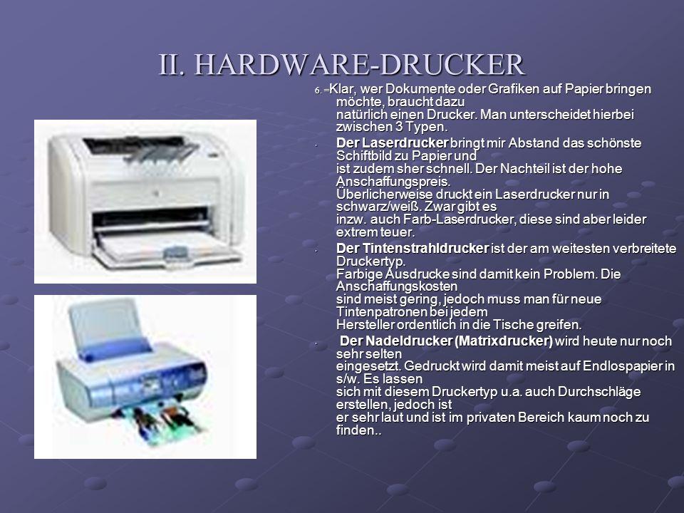 II. HARDWARE-DRUCKER