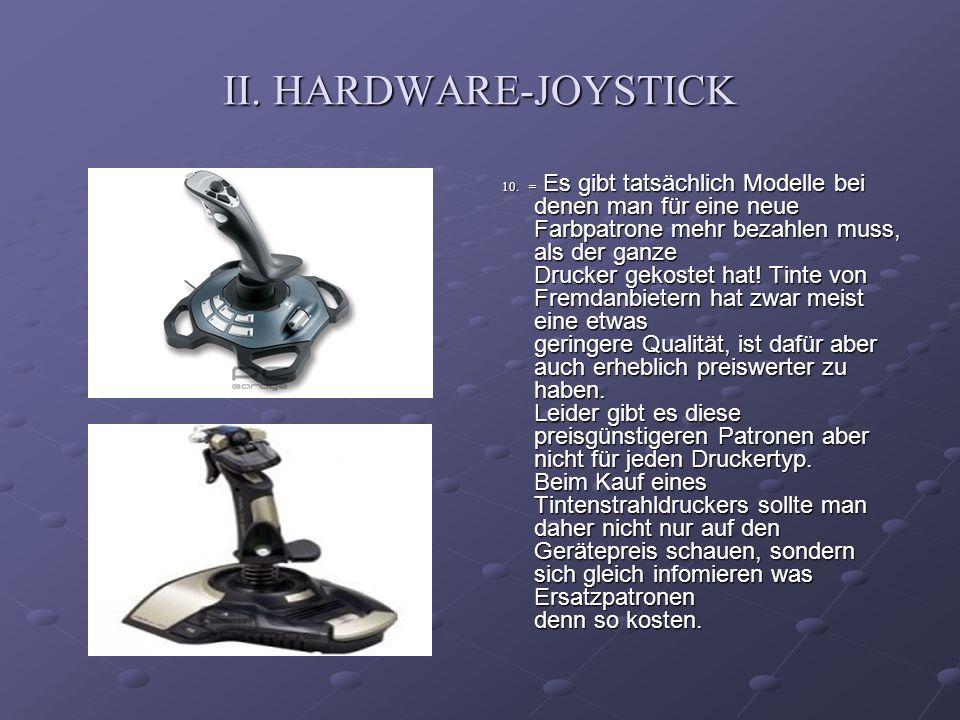 II. HARDWARE-JOYSTICK
