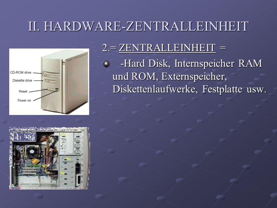 II. HARDWARE-ZENTRALLEINHEIT