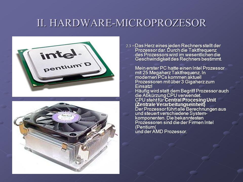 II. HARDWARE-MICROPROZESOR
