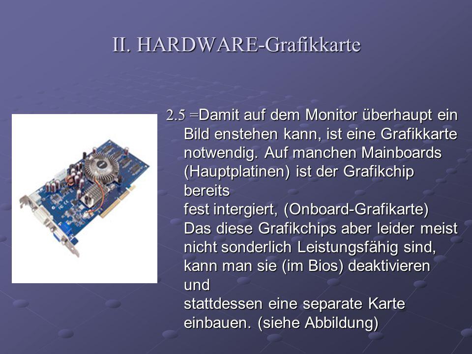 II. HARDWARE-Grafikkarte