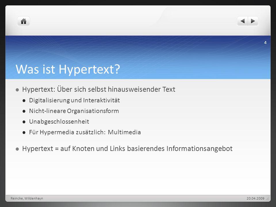 Was ist Hypertext Hypertext: Über sich selbst hinausweisender Text