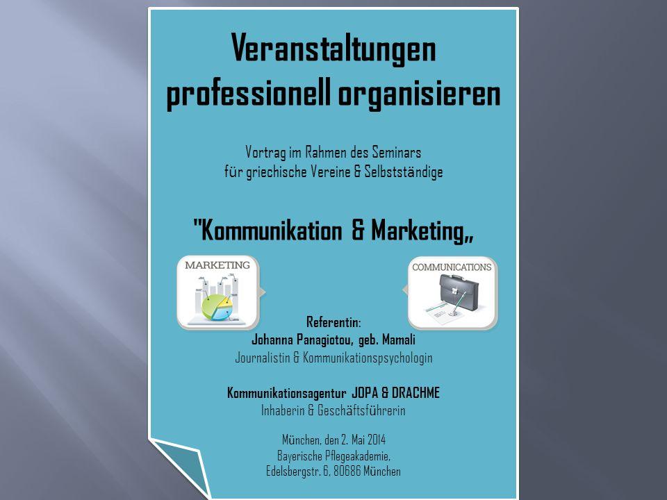 Veranstaltungen professionell organisieren