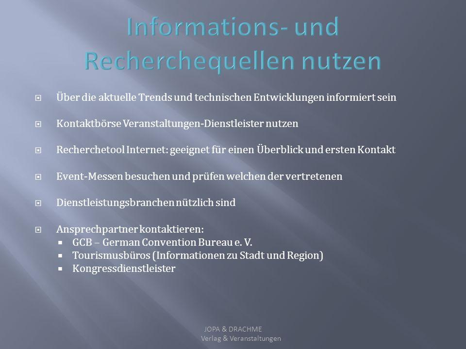 Informations- und Recherchequellen nutzen