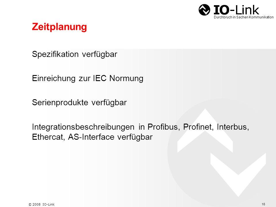 Zeitplanung Spezifikation verfügbar Einreichung zur IEC Normung